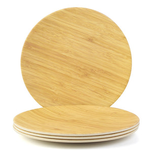 High Quality Bamboo Plates (4Pcs) - ecologiks
