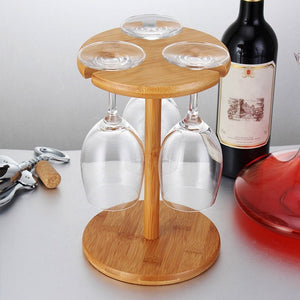Elegant Wine Glass Presentation Rack - ecologiks