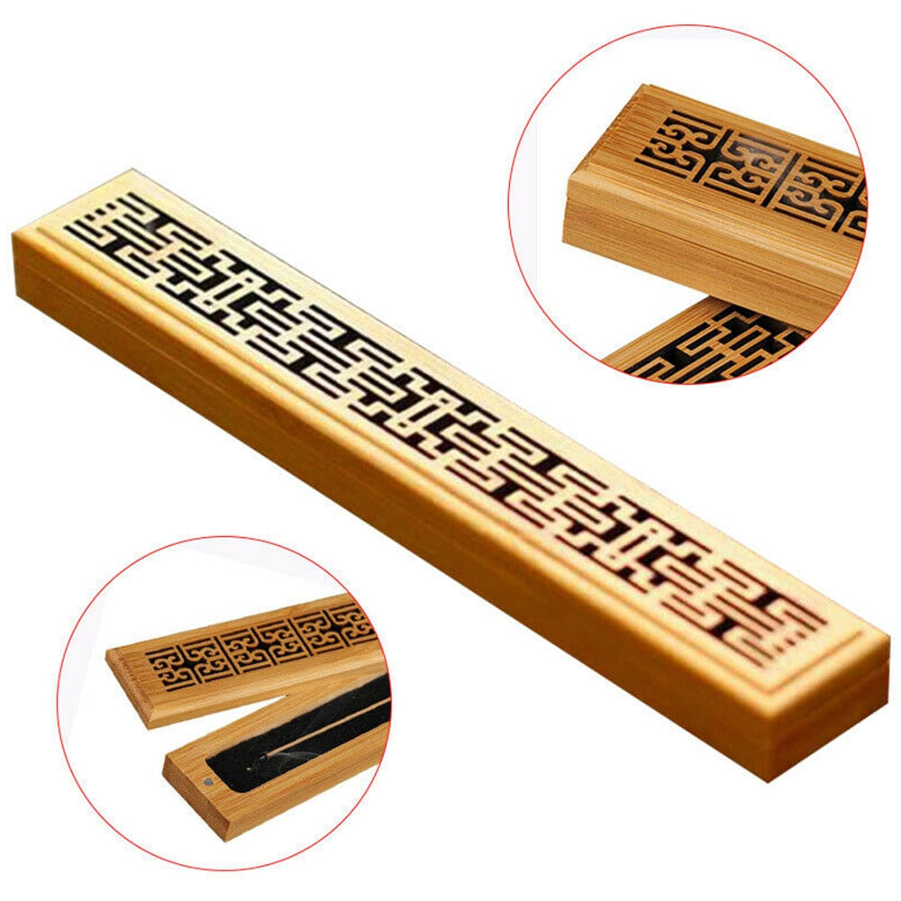 Bamboo Incense Stick Box - ecologiks