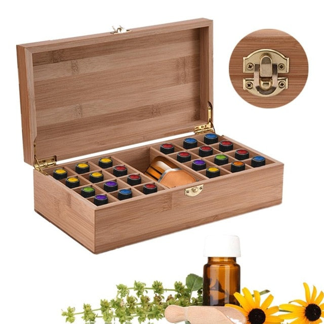Bamboo Essential Oil Storage Box - ecologiks
