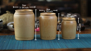 Bamboo Storage Jars (3 Sizes) - ecologiks