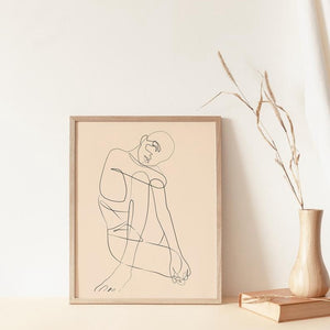 Woman Canvas Painting Scandinavian Style - ecologiks