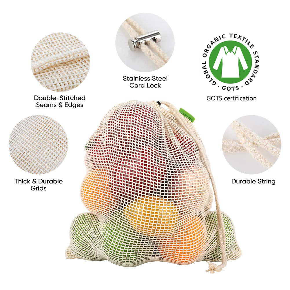 100% Organic Cotton Mesh Bag (3 sizes) - ecologiks