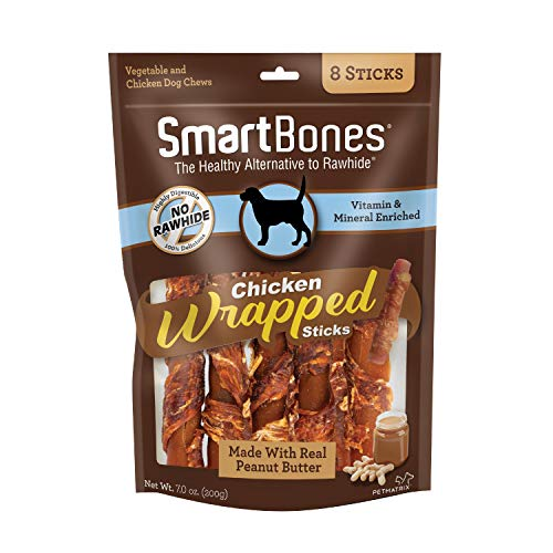 SmartBones Chicken-Wrapped Sticks For Dogs With Real Peanut Butter, Rawhide-Free 8 Count