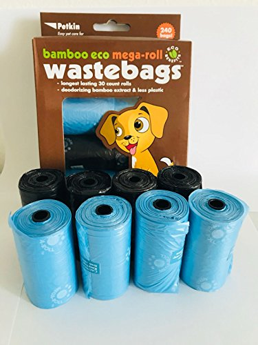 Petkin Bamboo Eco Mega-Roll Waste Bags Fresh Scent-240 Bags