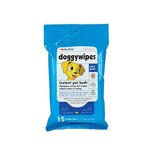 Petkin Doggywipes 15 count