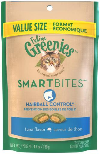 Greenies Smartbites Hairball Control Tuna 4.6oz GREENIES
