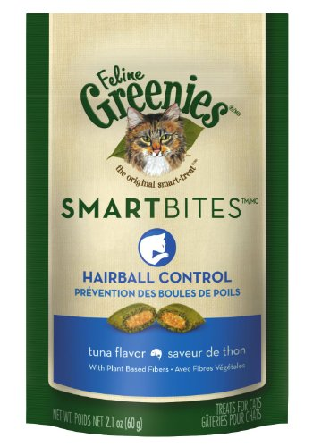 Greenies Feline SmartBites Hairball Control Tuna - 2.1 oz