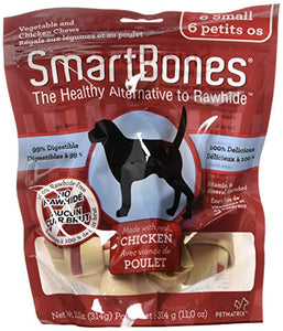 SmartBones Small Chews With Real Chicken 6 Count, Rawhide-Free Chews For Dogs