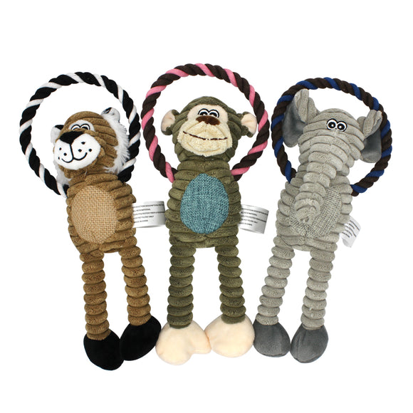 Rope Stuffed Animals Dog Toy