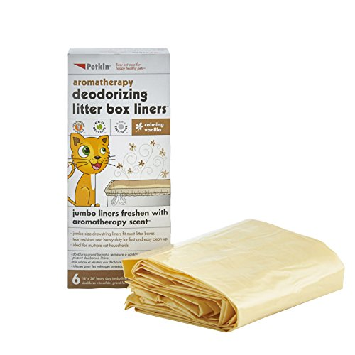 Petkin Litter Box Liners - Vanilla - 6 count