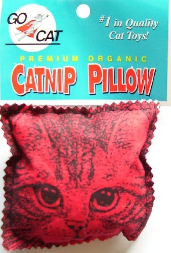 GoCat Catnip Pillow Cat Toy, Square Pillow Stuffed with Catnip and Fill