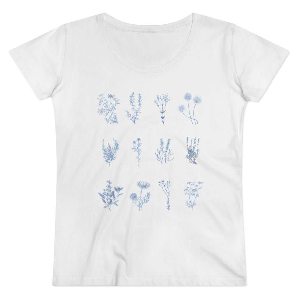 Blue Botanic Drawings Shirt
