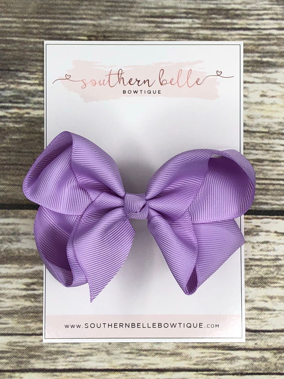 Lavender boutique hair bow clip