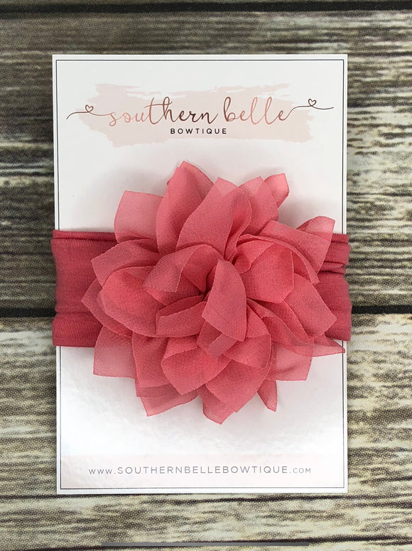 Coral flower baby headband