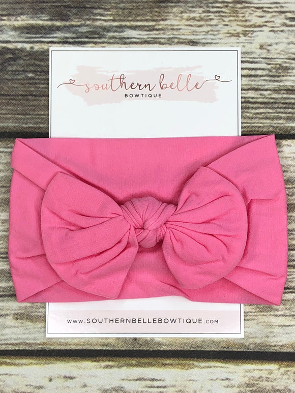 Bubblegum pink knot bow headband