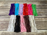 Lace baby headbands - set of 11