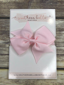 Light pink pinwheel bow headband