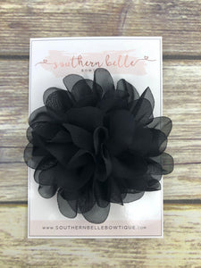 Black petal flower headband