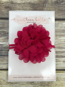 Raspberry pink petal flower headband