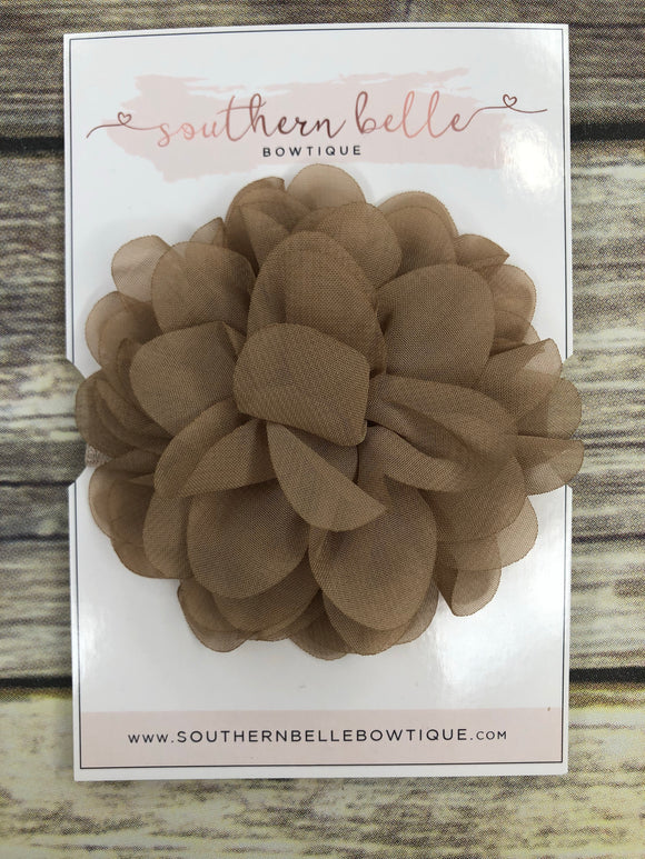 Tan petal flower headband