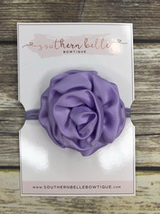 Lavender rolled rose headband
