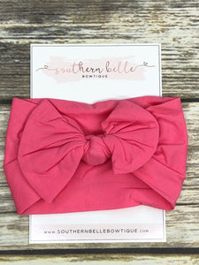 Melon knot bow headband