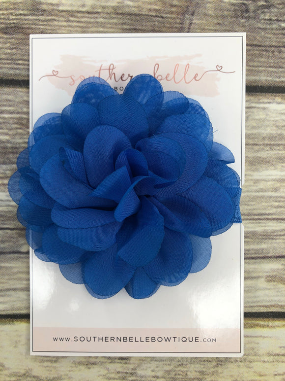 Royal blue petal flower headband