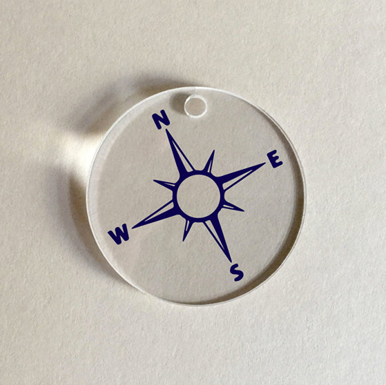 Nautical Blue Compass Charm
