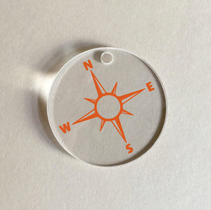 Mango Orange Compass Charm