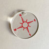 Starfish Red Compass Charm