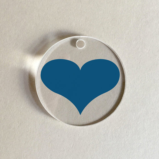 Atlantic Blue Heart Charm