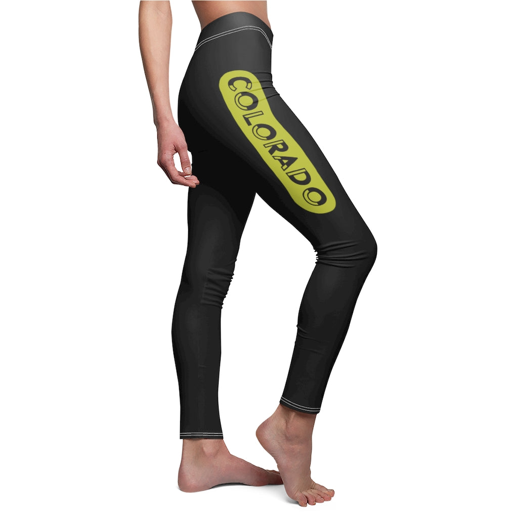 COLORado Black Womens Leggings