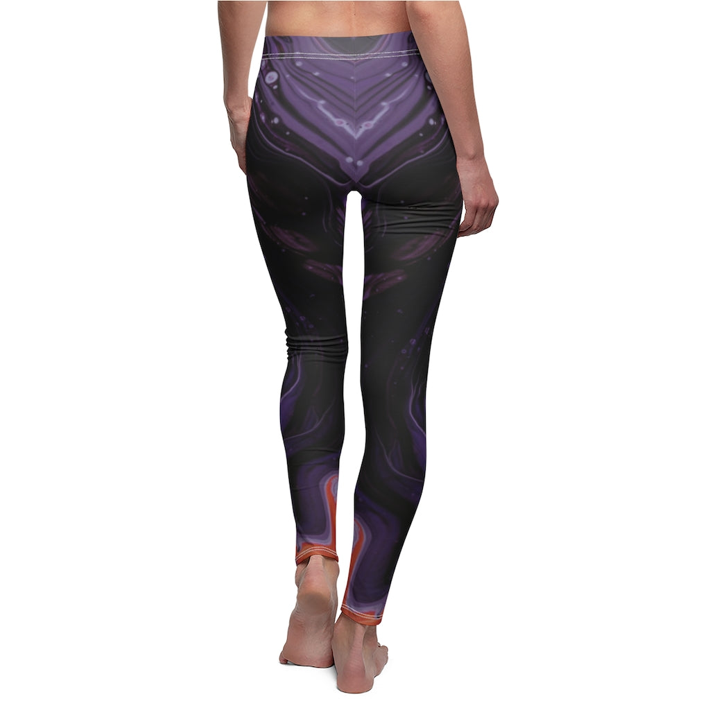 Purple Nebula Womens Leggings
