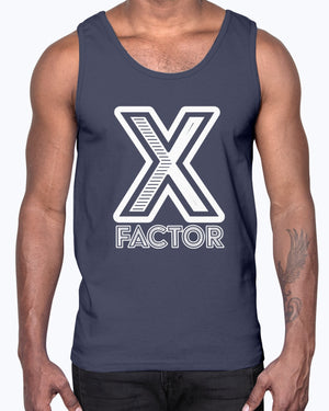 """X Factor"" Unisex Cotton Tank Top (Inverted)"