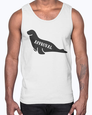 """Seal of Approval"" Unisex Cotton Tank Top"