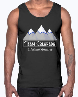 """Team Colorado"" Unisex Cotton Tank Top (Inverted)"