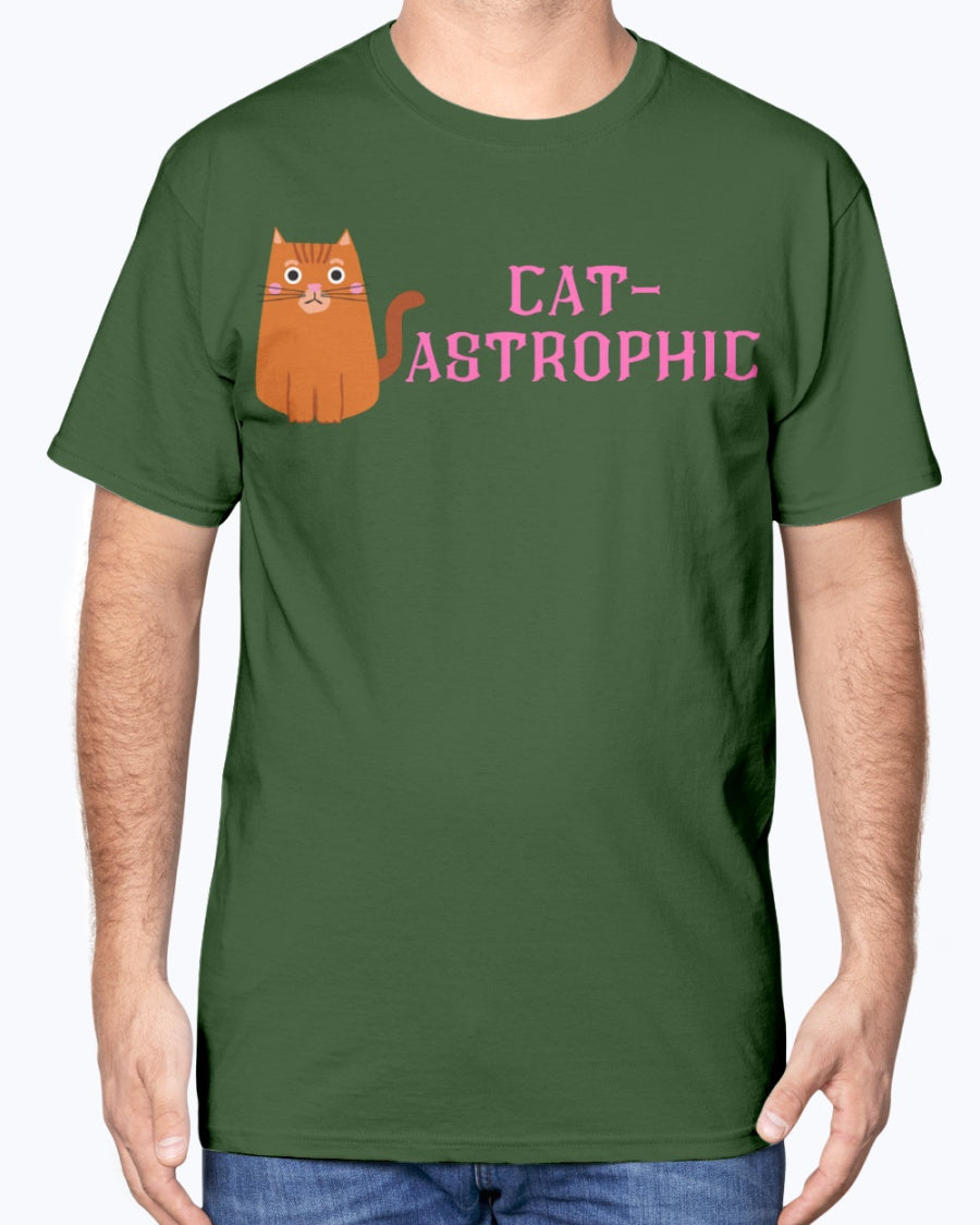 """Cat-Astrophic"" Cotton Tee (Inverted)"