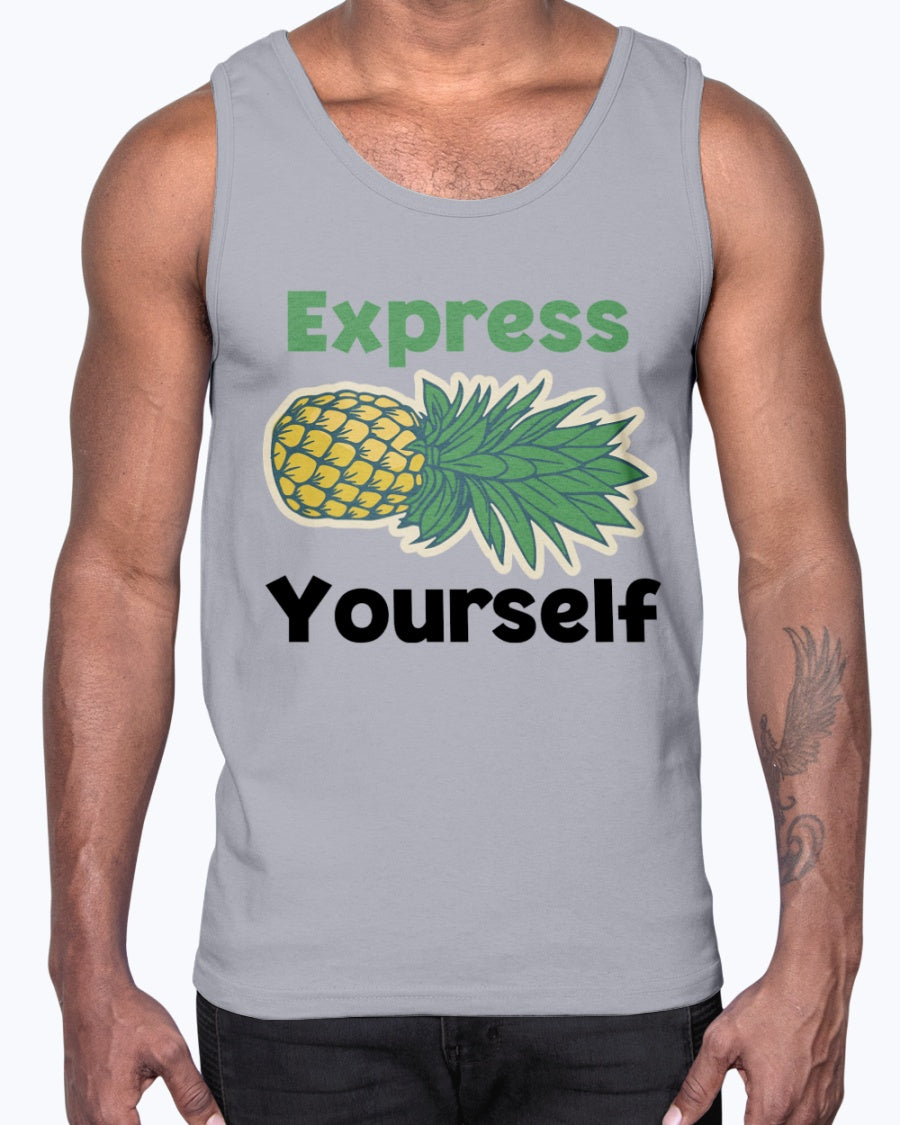 """Pineapple Express Yourself"" Unisex Cotton Tank Top"