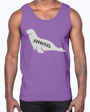 """Seal of Approval"" Unisex Cotton Tank Top (Inverted)"