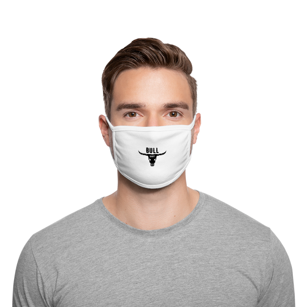 Bull Shirt Face Mask - white/white