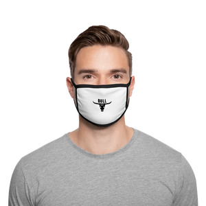 Bull Shirt Face Mask - white/black