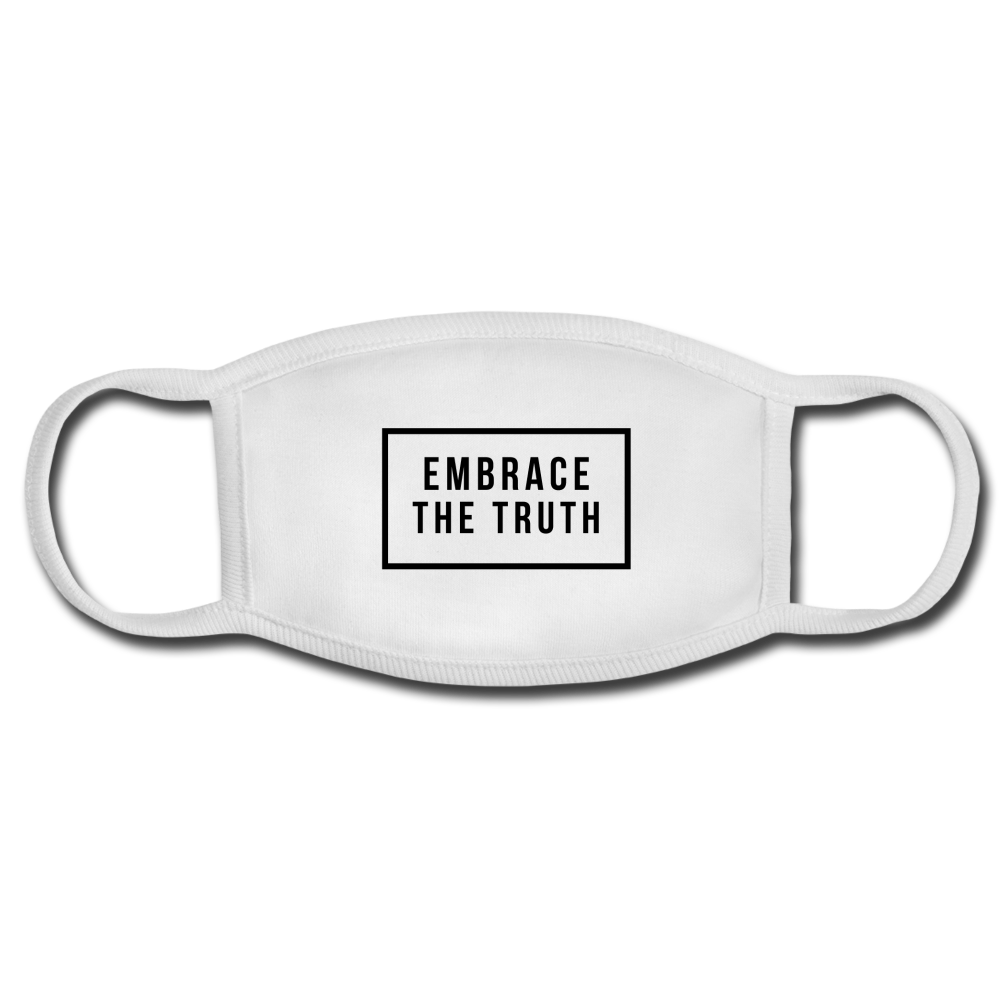 Embrace The Truth Face Mask - white/white