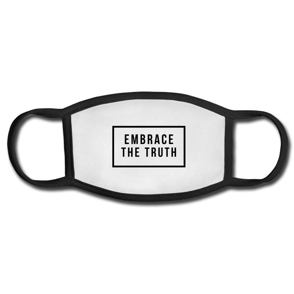 Embrace The Truth Face Mask - white/black