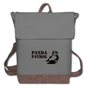 Panda Patrol Canvas Backpack - gray/brown