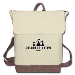 Colorado Native Canvas Backpack - ivory/brown