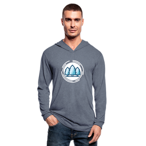 Mountain Blue Unisex Tri-Blend Hoodie Shirt - heather blue