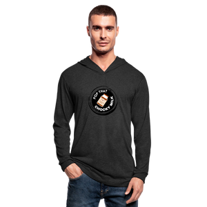 Chocky Milk Unisex Tri-Blend Hoodie Shirt - heather black