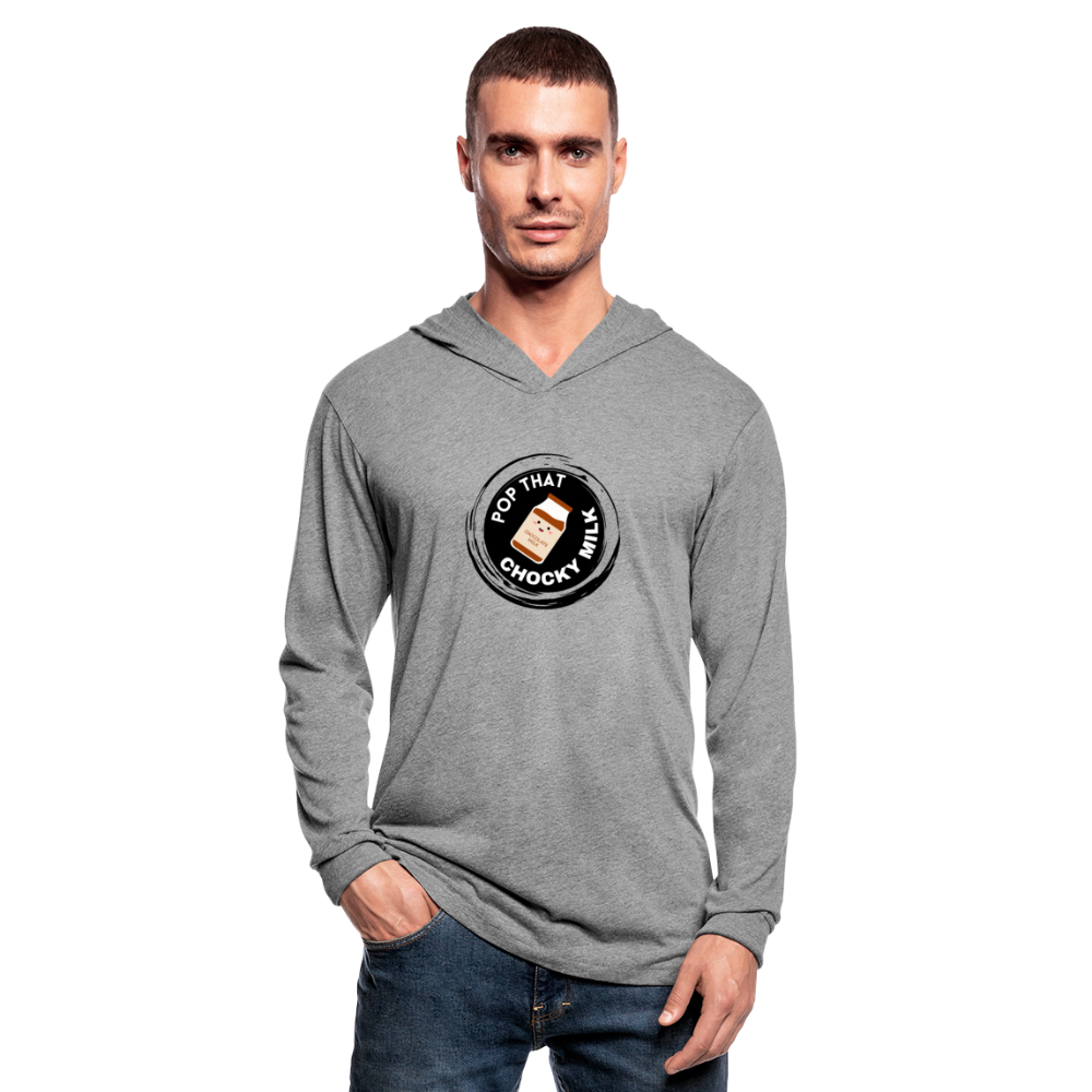 Chocky Milk Unisex Tri-Blend Hoodie Shirt - heather gray