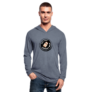 Chocky Milk Unisex Tri-Blend Hoodie Shirt - heather blue